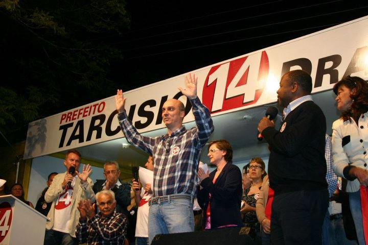 Traducao Comicio Politico em Jaguariuna 2012